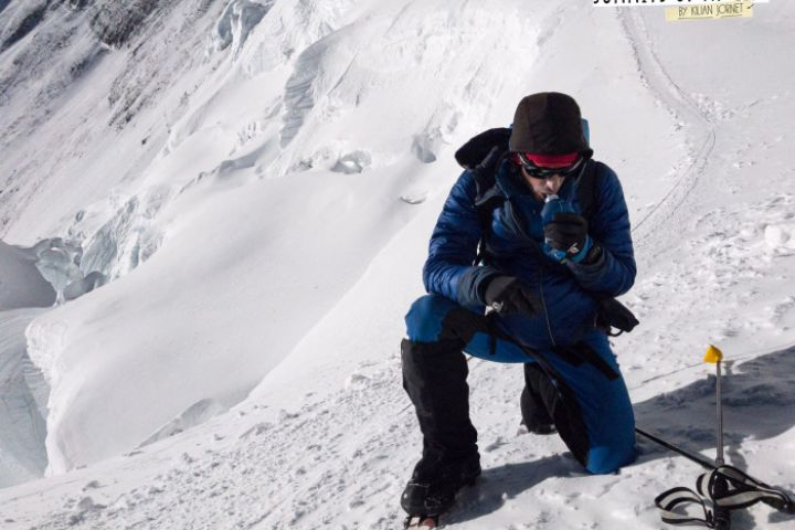 Kilian Jornet reaches the summit of Everest